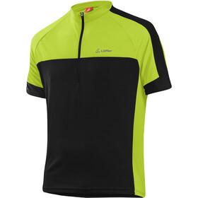 Löffler Pace 3.0 Half-Zip Bike Shirt Men, zwart/groen